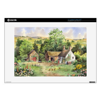 Country Farm idyllic country landscape Laptop Decal