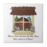 Country Farm Life Ceramic Tile