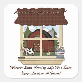 Country Farm Life Square Sticker