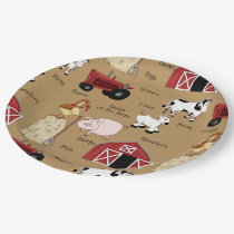 Country Farm party paper plates