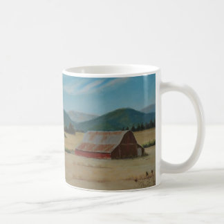 Country Farm Red Barn Landscape Mug