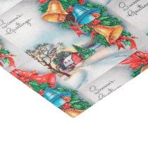 Country farm retro vintage Christmas Tissue Paper