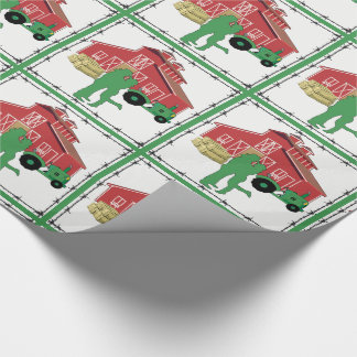Country Farm Romantic  Couple With Barn /Tractor Wrapping Paper