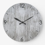 Country Farm Rustic Wood Planks Large Clock