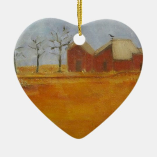 Country Farm Traditional Prairie Art Ceramic Ornament