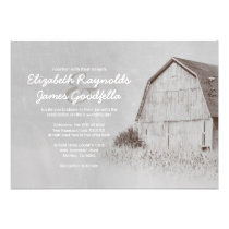 Country Farm Wedding Invitations Personalized Announcement