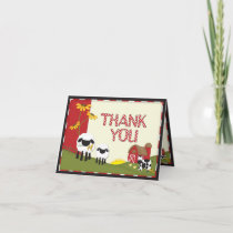 Country Farmer Thank You Card