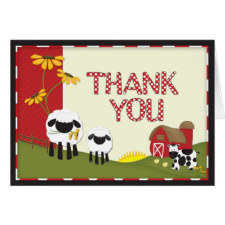 Country Farmer Thank You Card