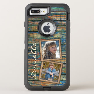 Country Farmhouse Rustic Barn Wood Planks Pattern OtterBox Defender iPhone 7 Plus Case