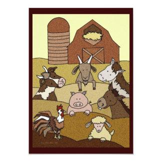 Country Farmlife 10 5x7 Paper Invitation Card
