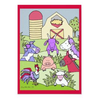 Country Farmlife 15 5x7 Paper Invitation Card