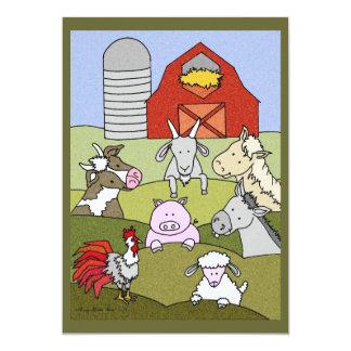 Country Farmlife 6 5x7 Paper Invitation Card