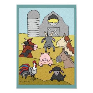 Country Farmlife 8 5x7 Paper Invitation Card