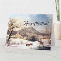 Country Farms Christmas Jesus Scriptures Big Card
