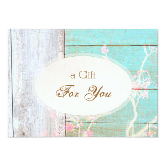 Country Fashion Retail Boutique, Gift Certificate Card