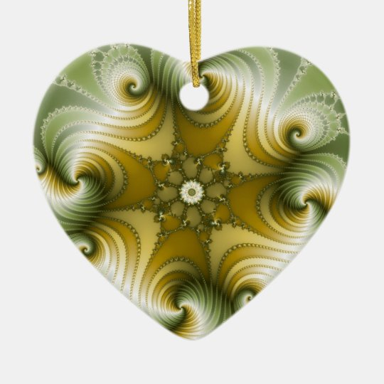 Country Fayre - Fractal Art Ceramic Ornament