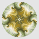 Country Fayre - Fractal Art Classic Round Sticker