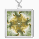 Country Fayre - Fractal Art Silver Plated Necklace