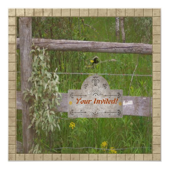 Country Fence Card