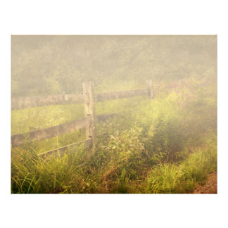 Country - Fence - County border Personalized Letterhead