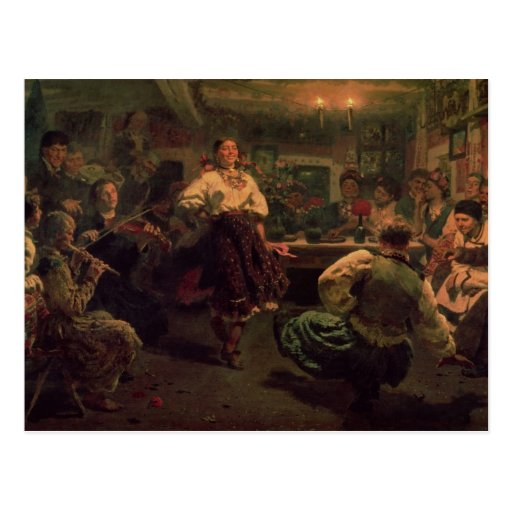 Country Festival, 1881 Postcard