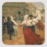 Country Festival, 1890s Square Stickers