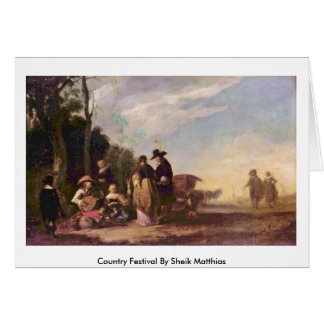 Country Festival By Sheik Matthias Greeting Card