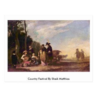 Country Festival By Sheik Matthias Postcard