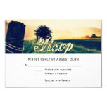 Country Field Fence Post Wedding RSVP Cards