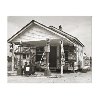 Country Filling Station, 1939 Canvas Print