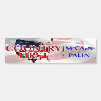 Country First Bumper Sticker