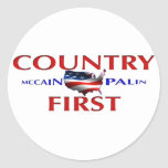 Country First John McCain Sarah Palin stickers