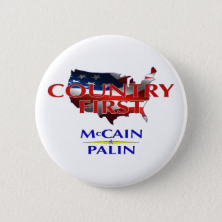 Country First - McCain Palin 2008 collector's pin