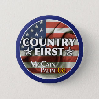 Country First: McCain-Palin Button