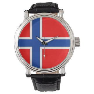 country flag norway norwegian wrist watch