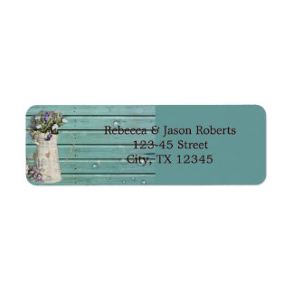 country floral barn wood rustic wedding label
