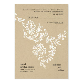 "Country Floral Wedding Invitation 5"" X 7"" Invitation Card"