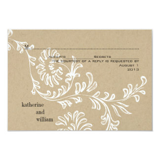 Country Floral Wedding RSVP Card