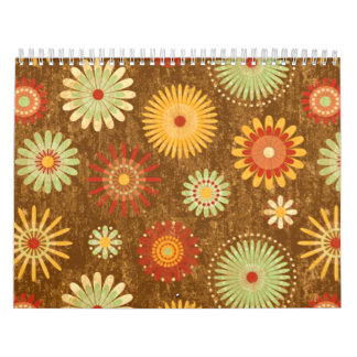 Country Flower pattern Wall Calendars