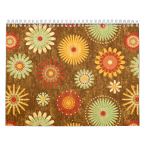 Country Flower pattern Calendar