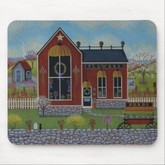 Country Flower Shop Mouse Pad