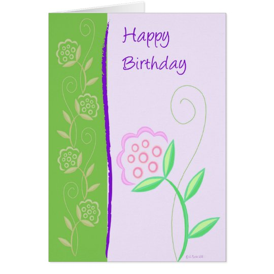 Country Flowers-BD Card