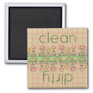 Country Flowers Dishwasher Magnet