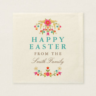 Country Flowers Easter Napkins
