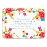 Country Flowers Graduation Party Invite