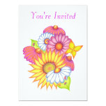 """Country Flowers Invitation Card 5"""" X 7"""" Invitation Card"""
