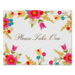 Country Flowers Party Favor Poster