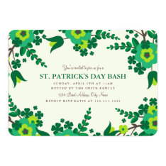 Country Flowers St. Patrick's Day Invite at Zazzle