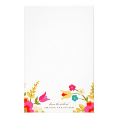 Country Flowers Stationery at Zazzle