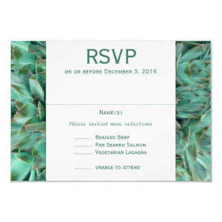 Country Flowers Succulents Menu Meals RSVP Cards